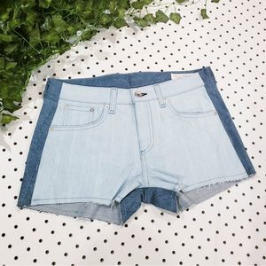NWOT $198 Rag and Bone Colorblocked Denim Shorts